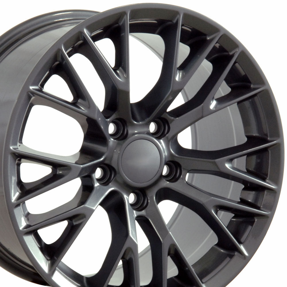 "18"" Fits Chevrolet - C7 Zo6 Style Replica Wheel - Gunmetal 18x8.5"