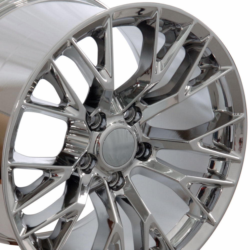 "19"" Fits Chevrolet - C7 Z6 Style Replica Wheel - PVD Chrome 19x1 