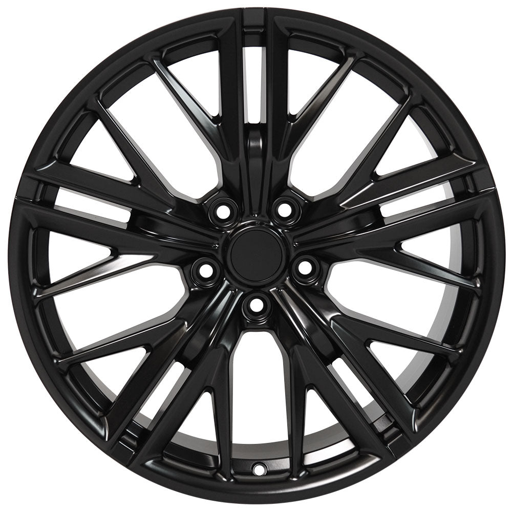 "20"" fits Chevrolet - Camaro ZL1 Wheel Replica - Satin Black 2x8.5 