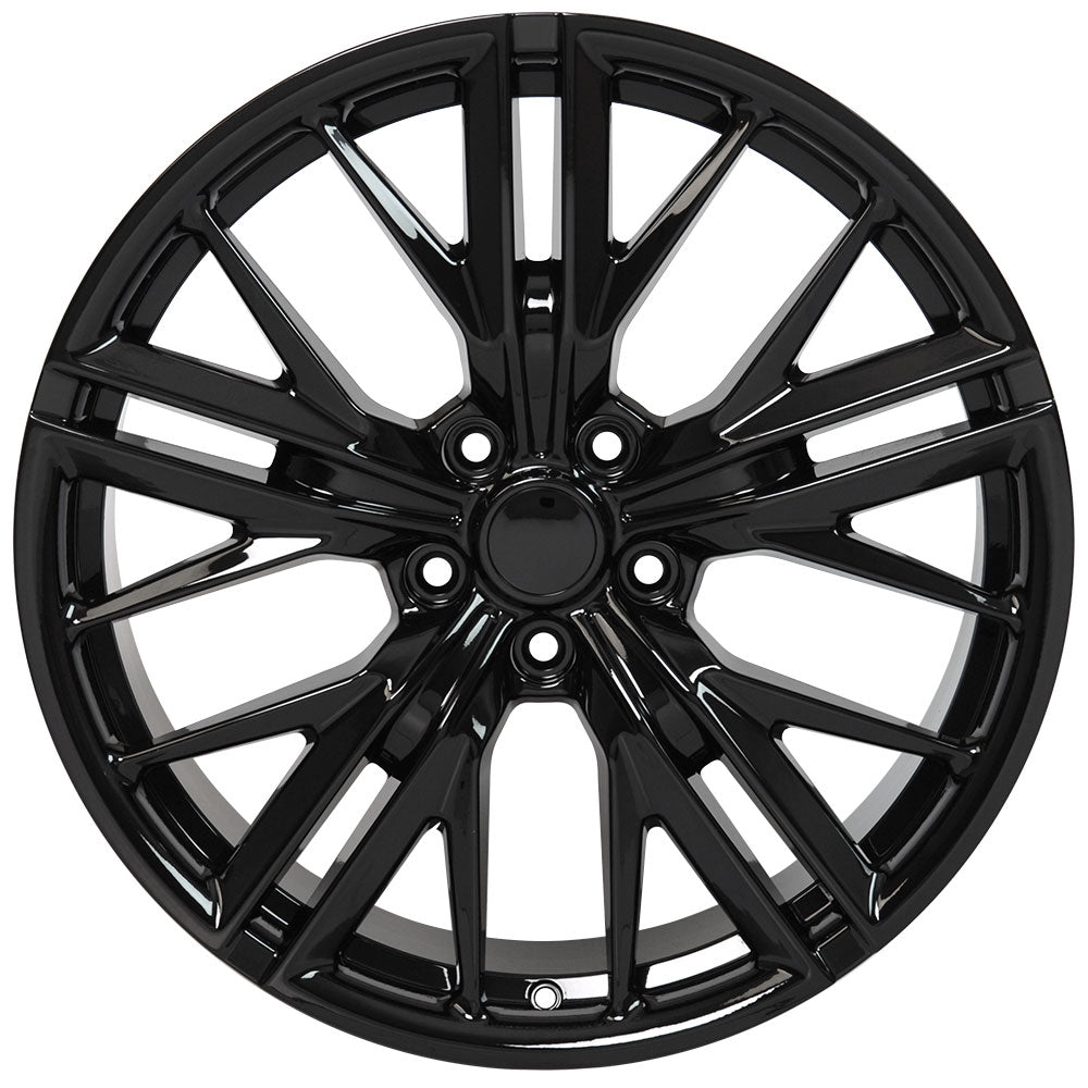 "20"" fits Chevrolet - Camaro ZL1 Wheel Replica - Black 2x9.5 