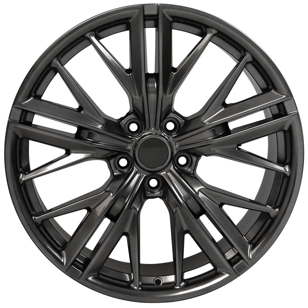 "20"" fits Chevrolet - Camaro ZL1 Wheel Replica - Hyper Black 2x9.5 