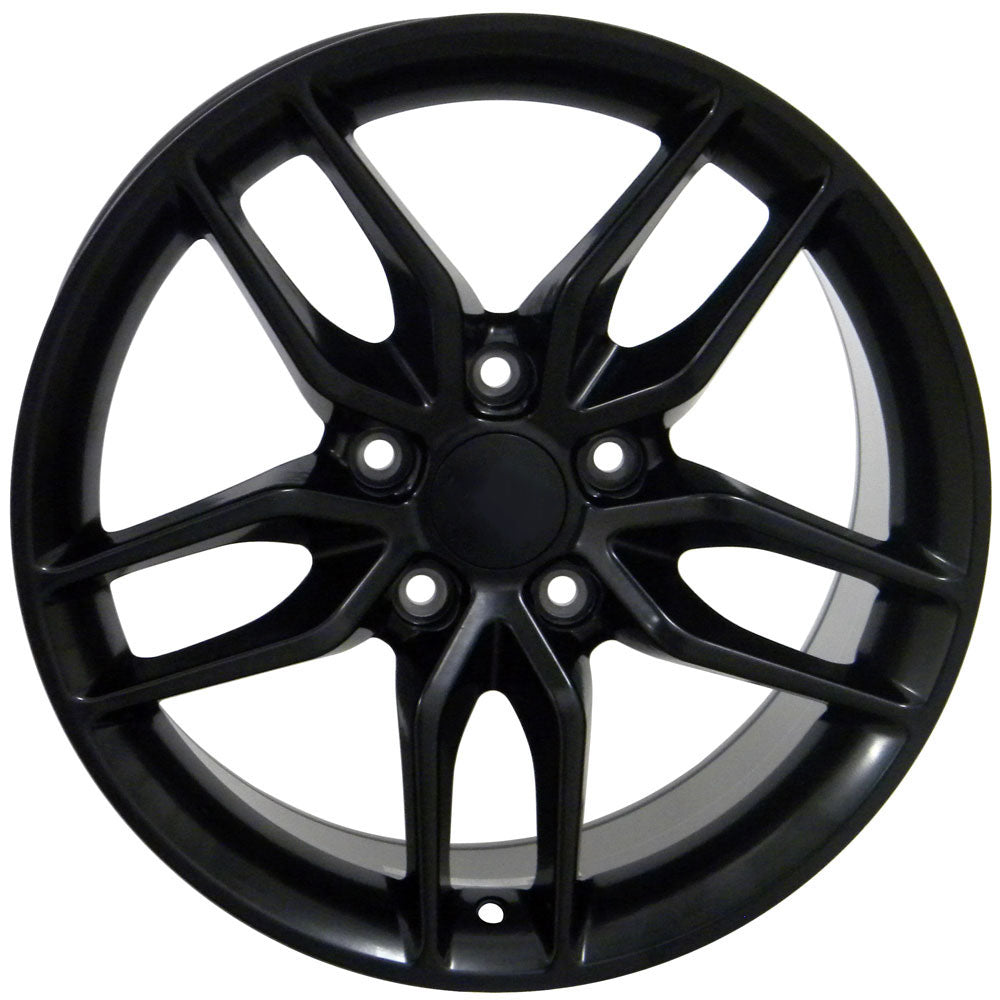 "18"" fits Chevrolet - C7 Stingray Replica Wheel - Satin Black 18x1.5 