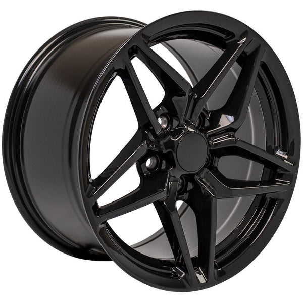 17 inch Rim fits Corvette - CV31 C7 ZR1 Style Black Wheel 17x11