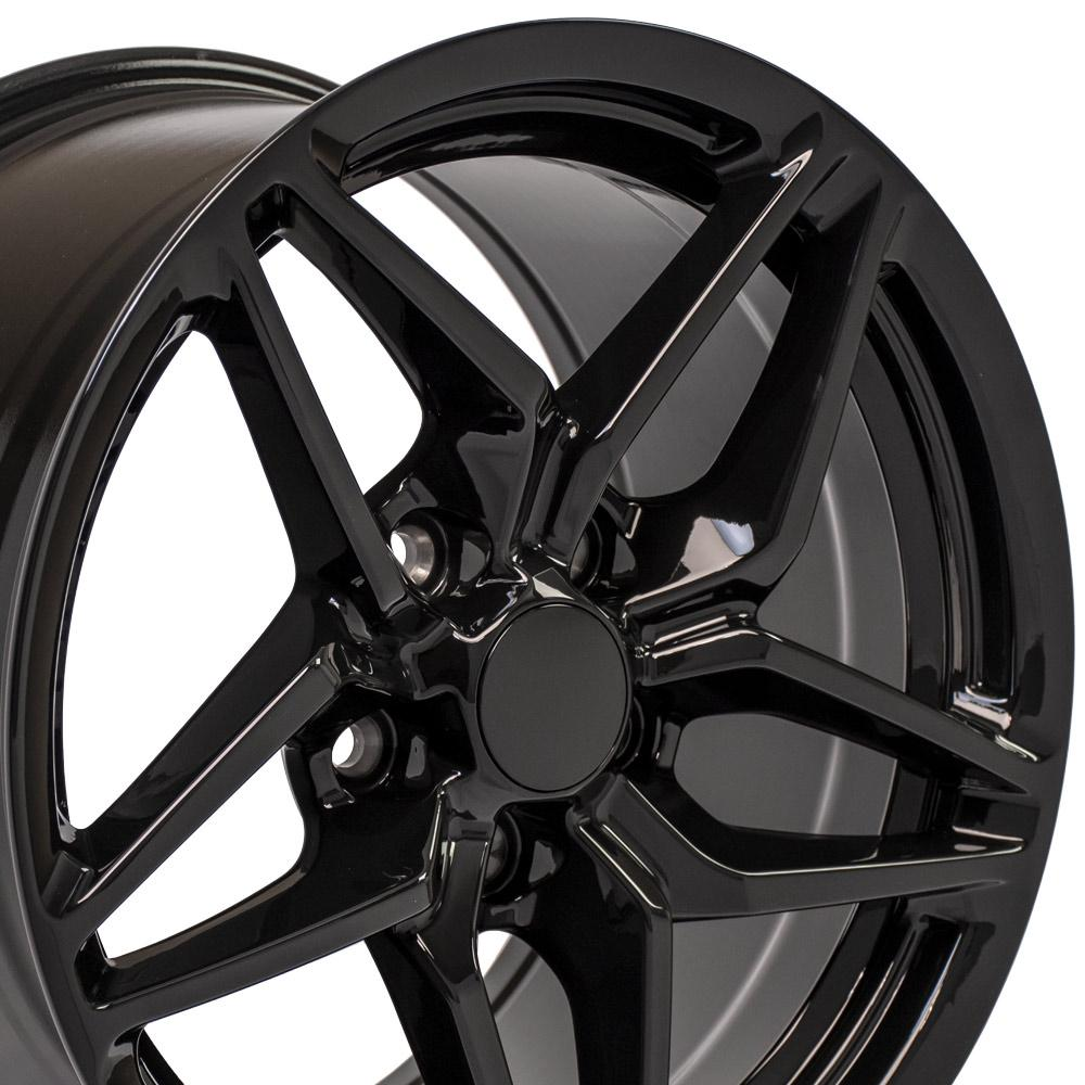 17 inch Rim fits Corvette - CV31 C7 ZR1 Style Black Wheel 17x9.5