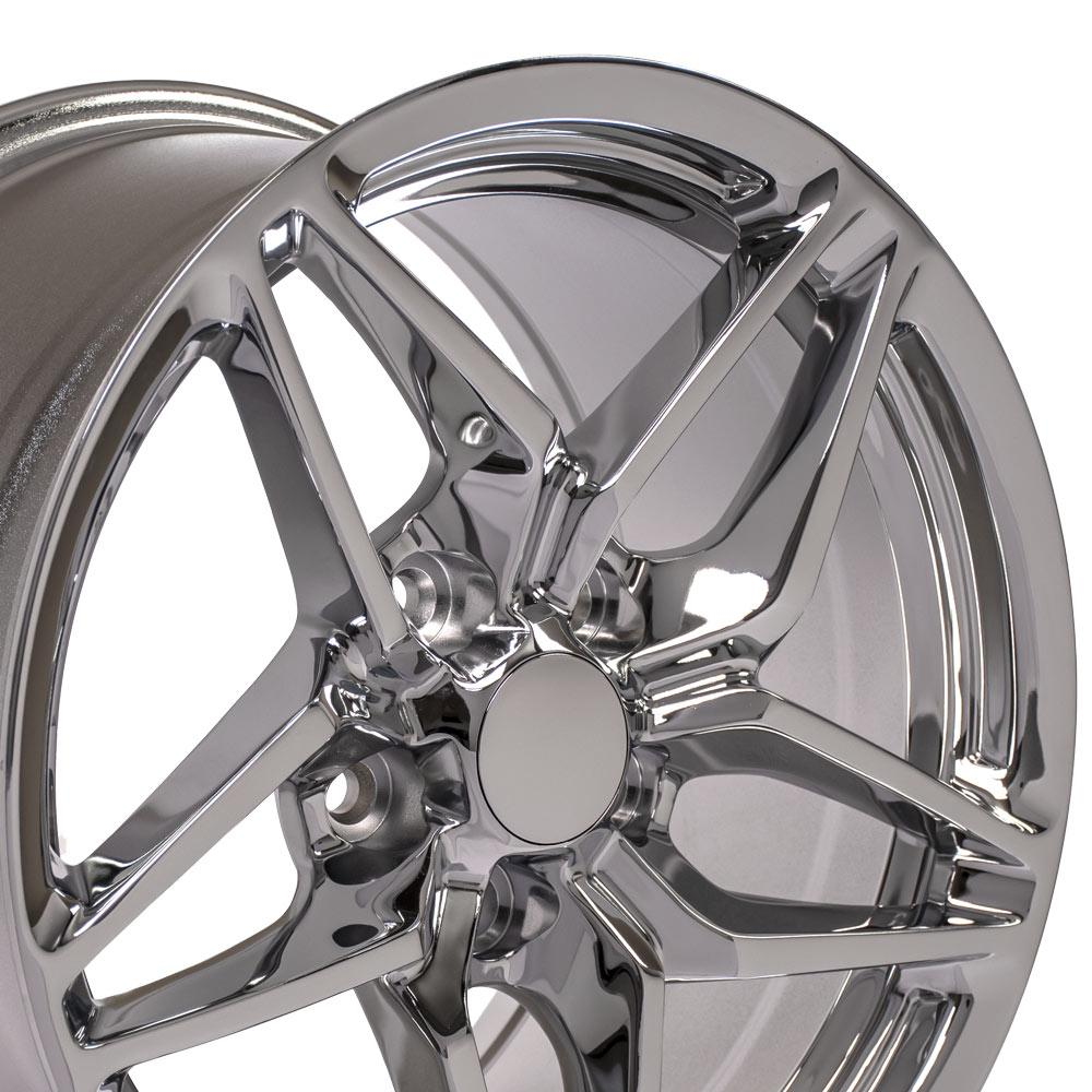 17 inch Rim fits Corvette - CV31 C7 ZR1 Style Chrome Wheel 17x11