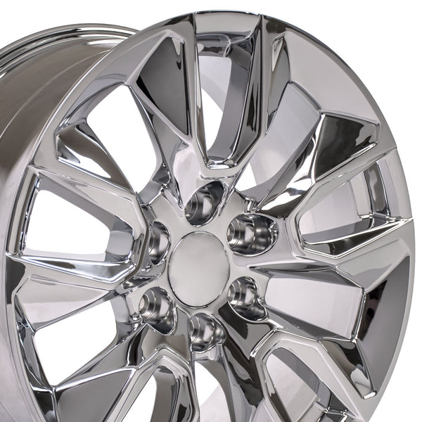 20 inch Rim Fits Silverado RST Wheel CV32 20x9 Chrome Chevy Truck Wheel