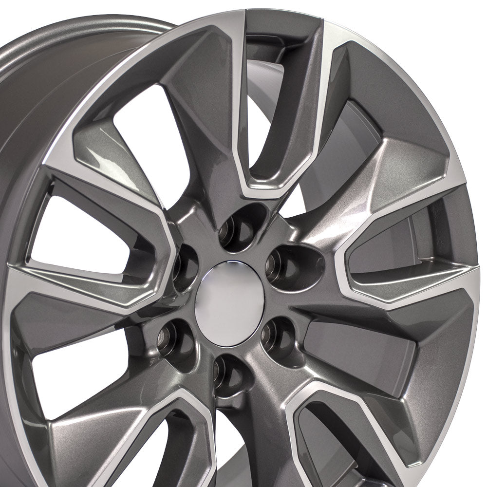 20 inch Rim Fits Chevy Silverado RST CV32 Gunmetal Machined Chevy Truck Wheel