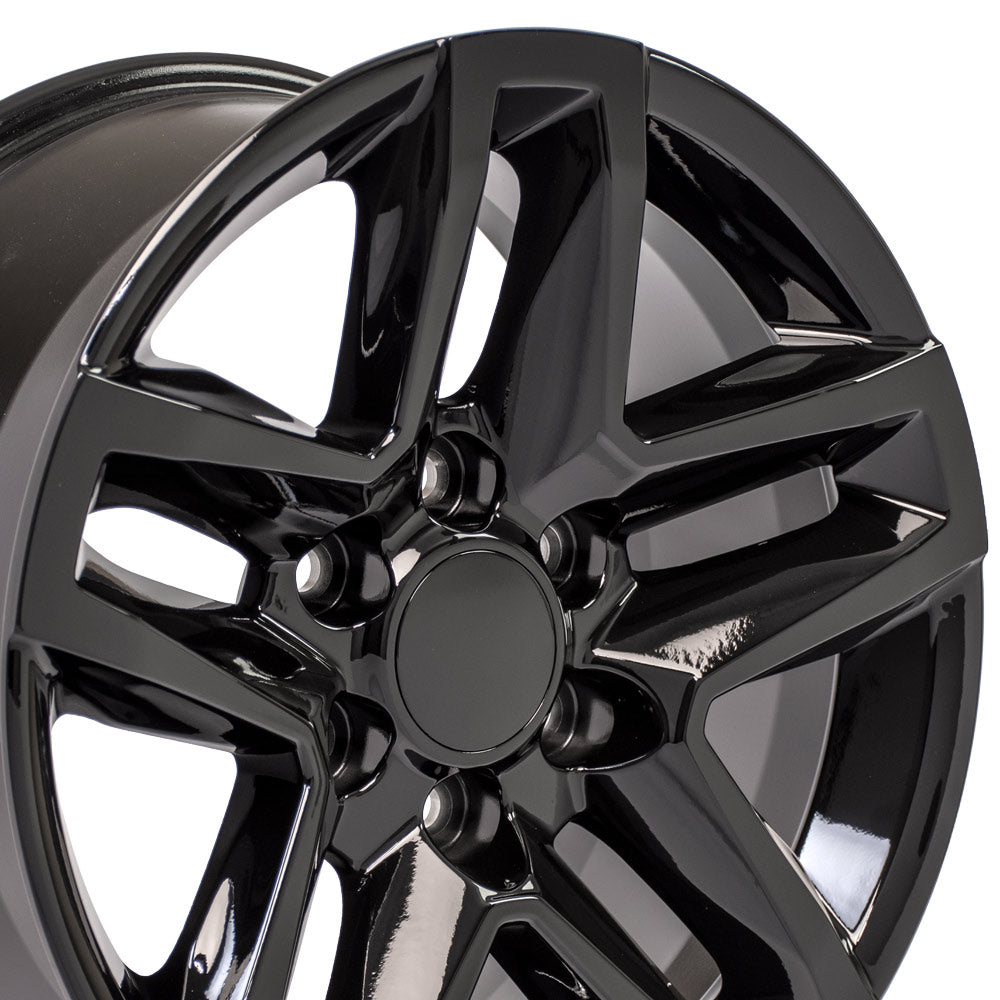 18 inch Rim Fits Chevy Trail Boss CV34 Black Chevy Truck Wheel