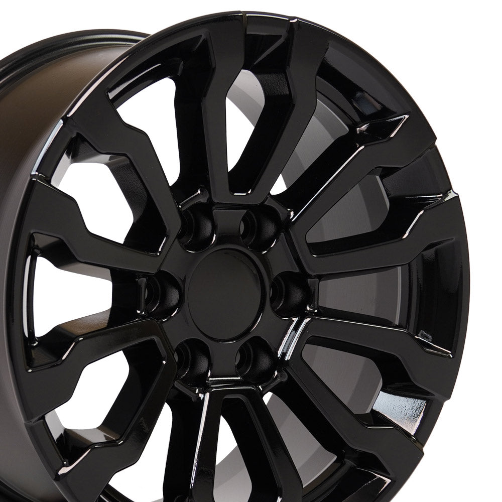 Fits GMC Sierra AT4 Rim - CV35 18x8.5 Black Sierra Wheel