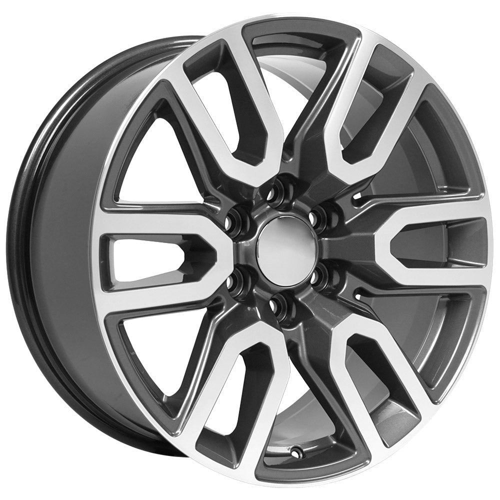 Fits GMC Sierra Rim - CV36 20x9 Gunmetal Machined Sierra Wheel