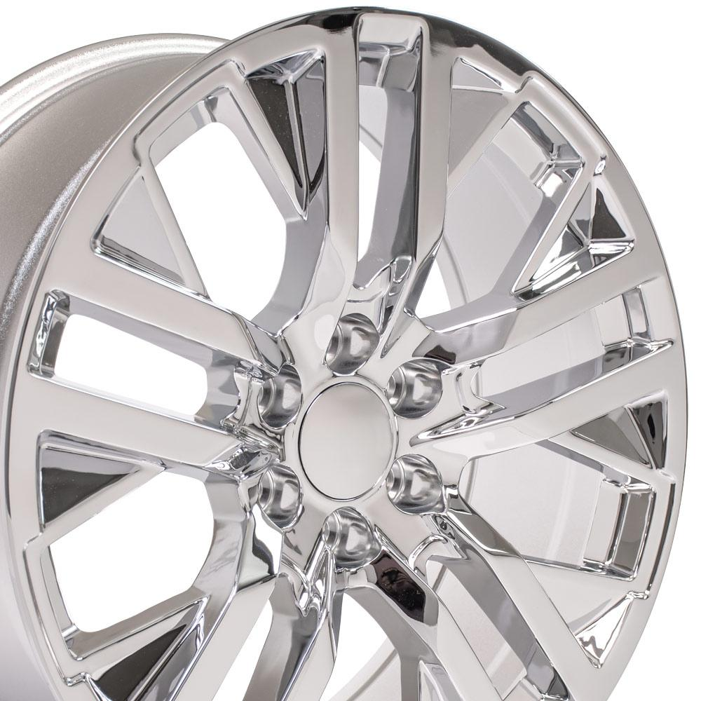 22 inch Rim fits Next Gen GMC Sierra CV38 22x9 Chrome Chevy Truck Wheel
