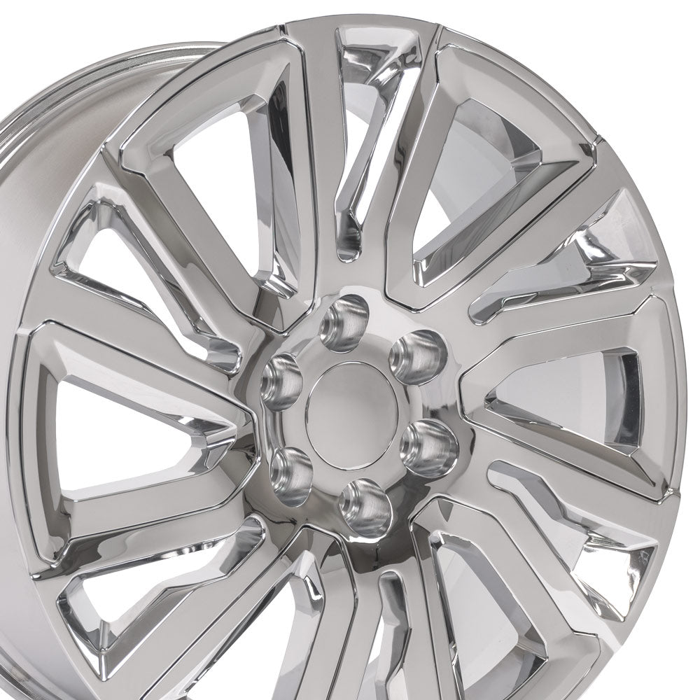 "22"" Chrome with Chrome Insert Rims fit GMC Sierra 1500 22x9"