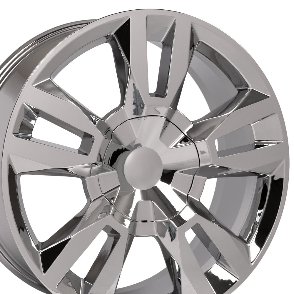 "22"" Forged Rim fits Tahoe RST Rally Style Chrome 22x9 Wheel Hollander 5821"