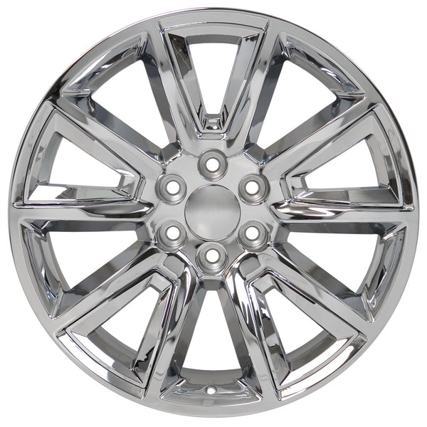 "22"" fits Chevrolet - Tahoe Replica Wheel - Chrome with Chrome Inserts 22x9 