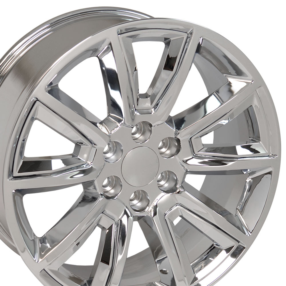 "20"" Fits Chevrolet - Tahoe Style Replica Wheel - Chrome with Chrome Inserts 2x8.5 