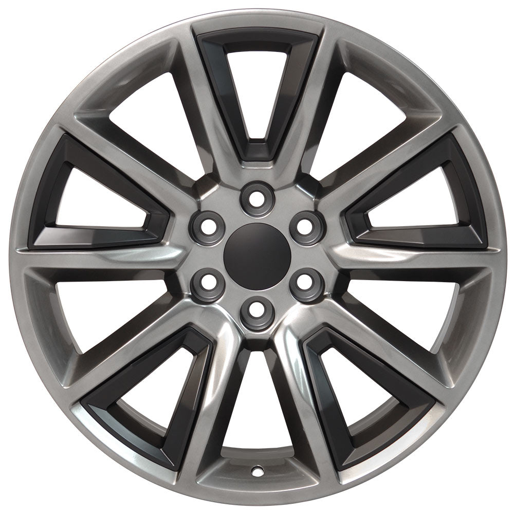 "22"" fits Chevrolet - Tahoe Replica Wheel - Hyper Black with Satin Black Inserts 22x9 
