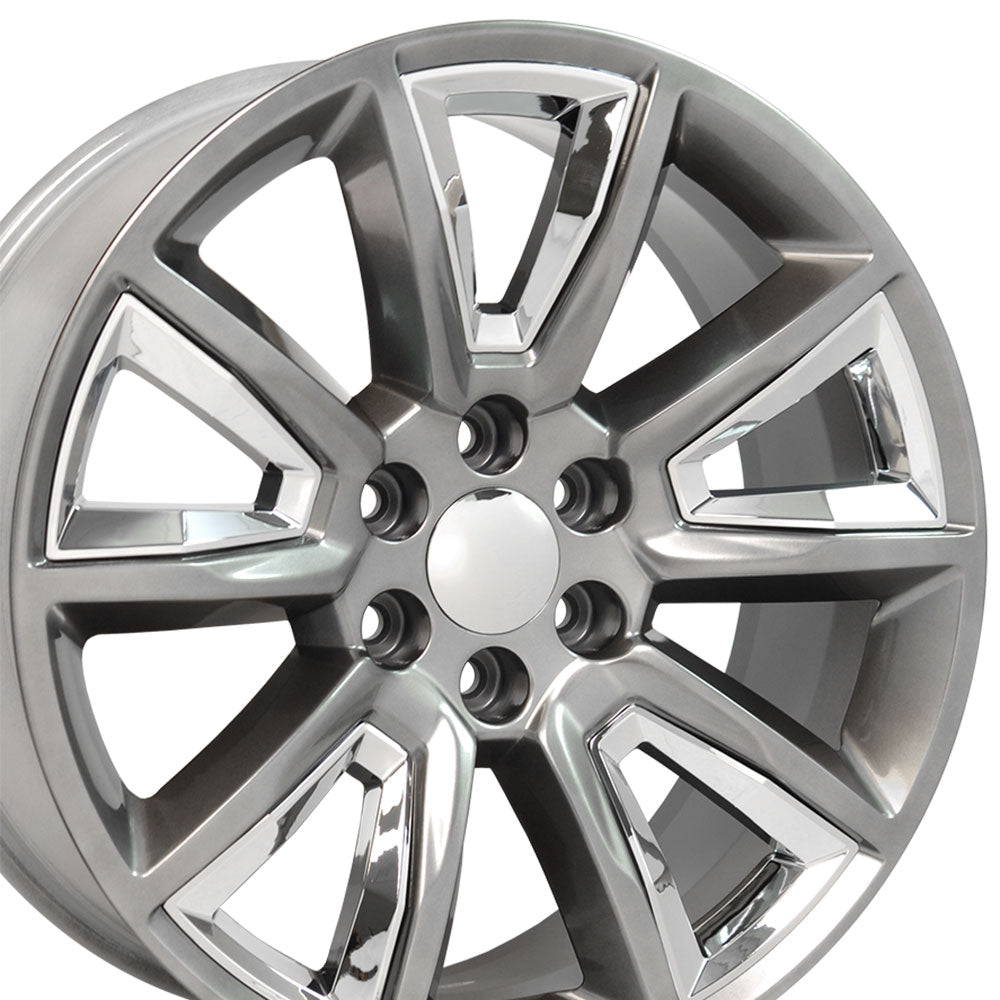 "20"" Rim fits Tahoe Hyper Black w/Chrome 20x8.5 Wheel Hollander 5696"