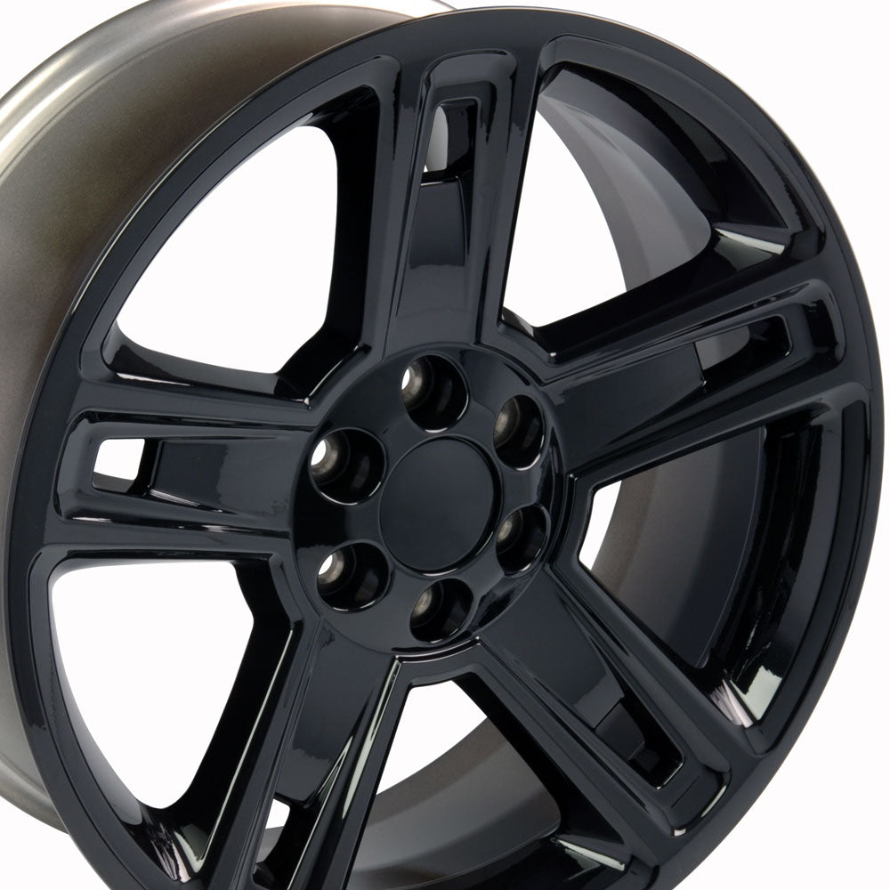 "22"" Fits Chevrolet - Silverado Style Replica Wheel - Black 22x9 