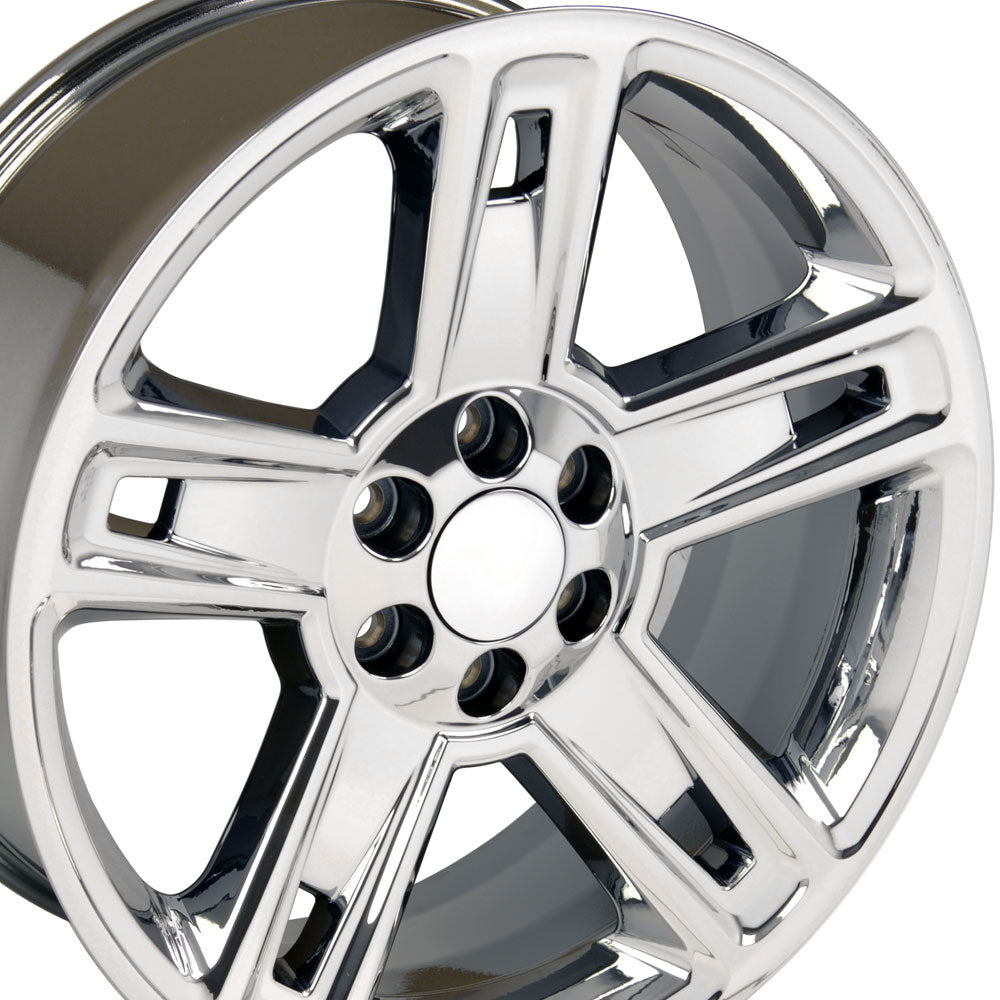 "22"" Fits Chevrolet - Silverado Style Replica Wheel - PVD Chrome 22x9 
