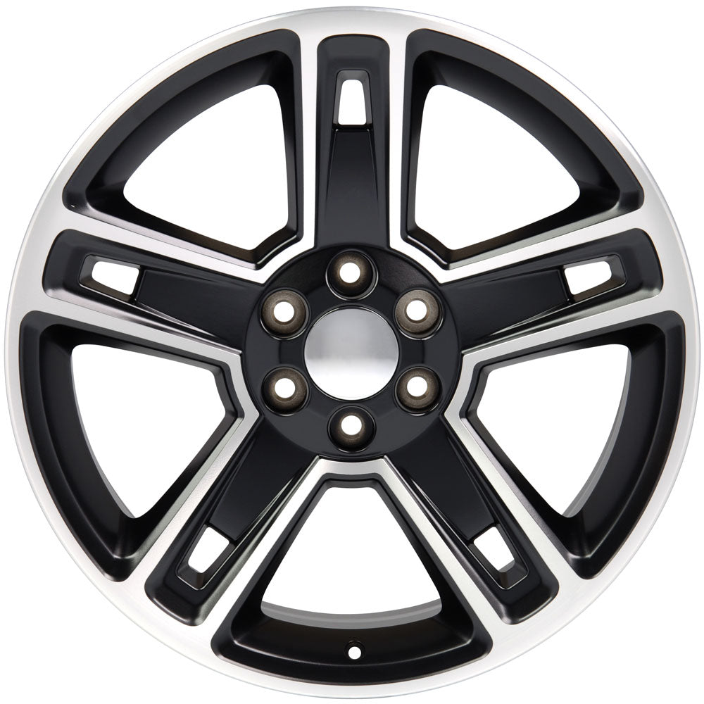 "22"" fits Chevrolet - Silverado Replica Wheel - Satin Black Machined 22x9 