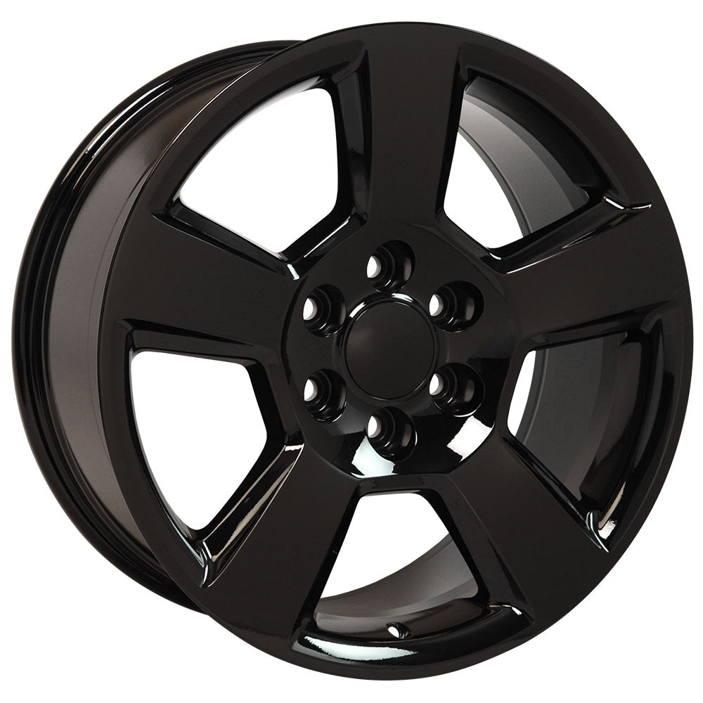 "20"" fits Chevrolet - Tahoe Replica Wheel - Black 2x9 