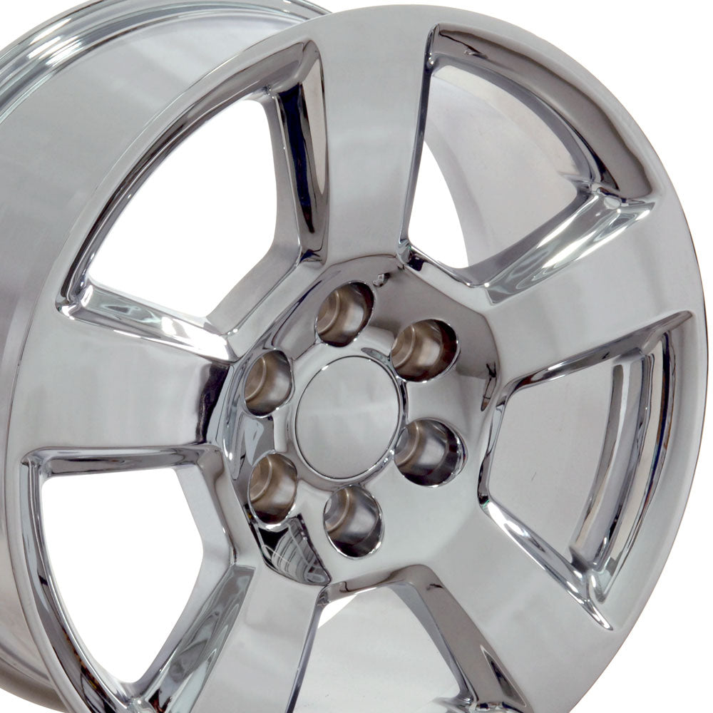 "20"" Fits Chevrolet - Tahoe Style Replica Wheel - Chrome 2x9 