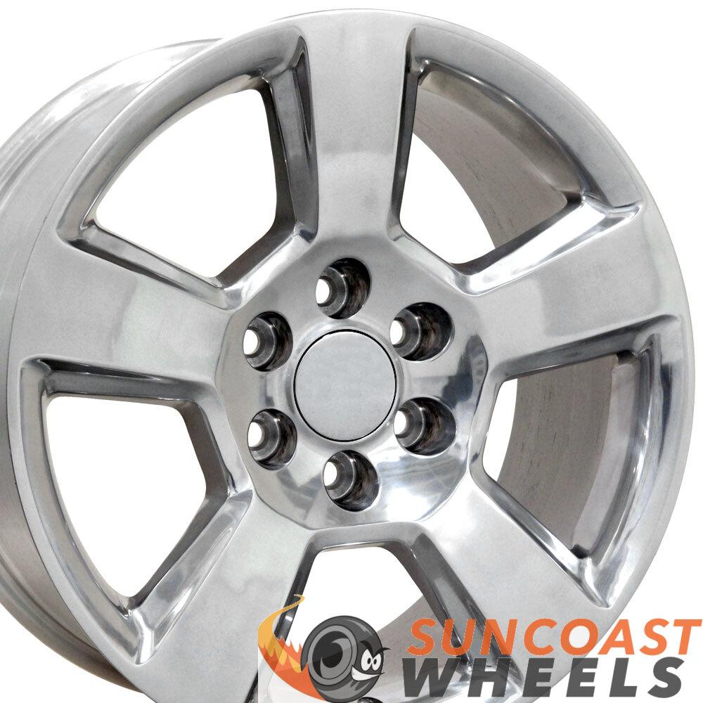 20 inch Rim Fits Tahoe CV76 20x9 Polished Aluminum Chevy Truck Wheel