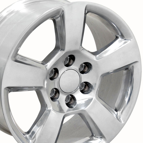 "20"" Fits Chevrolet - Tahoe Style Replica Wheel - Polished 2x9 