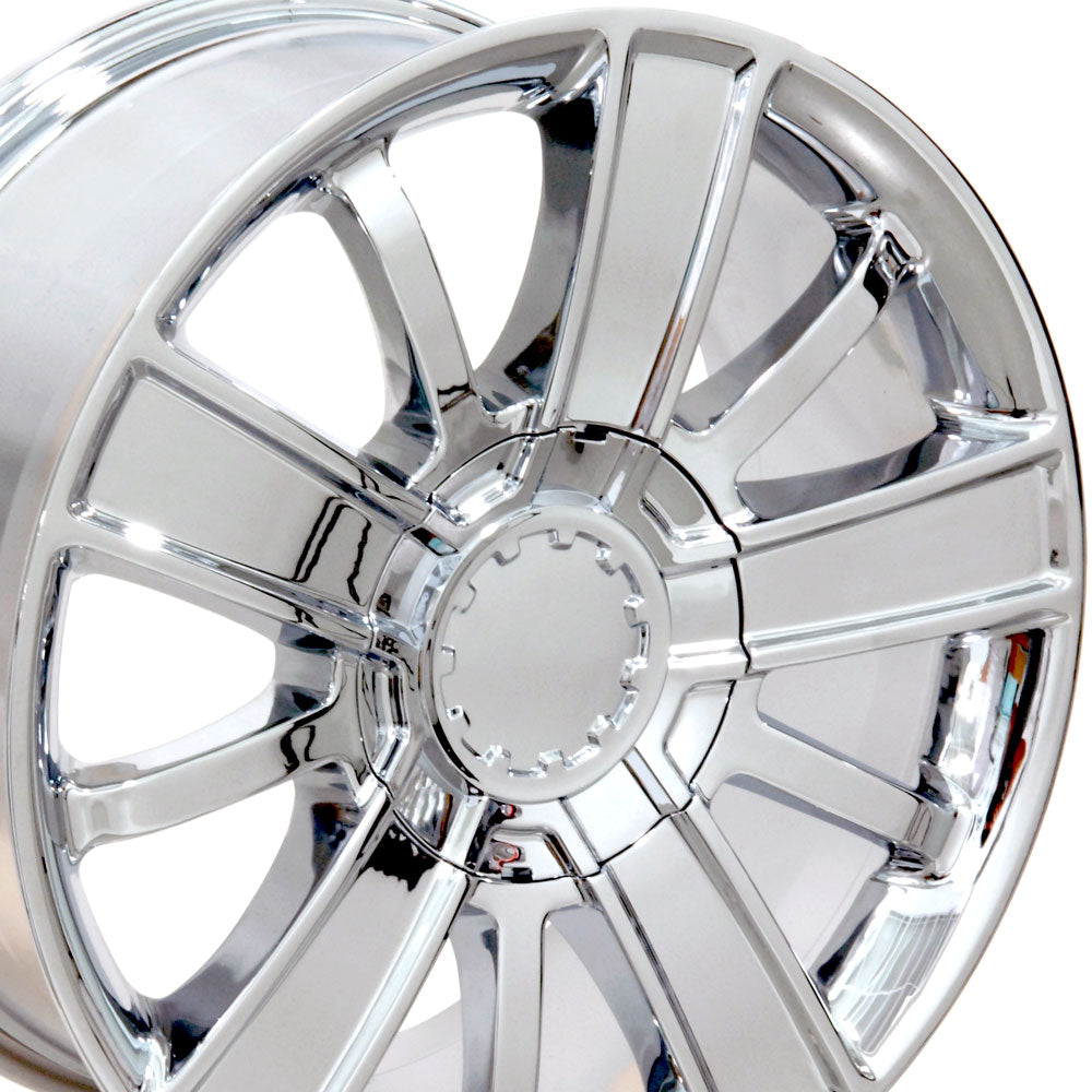 "20"" Fits Chevrolet - Silverado Style Replica Wheel - Chrome 20x9 