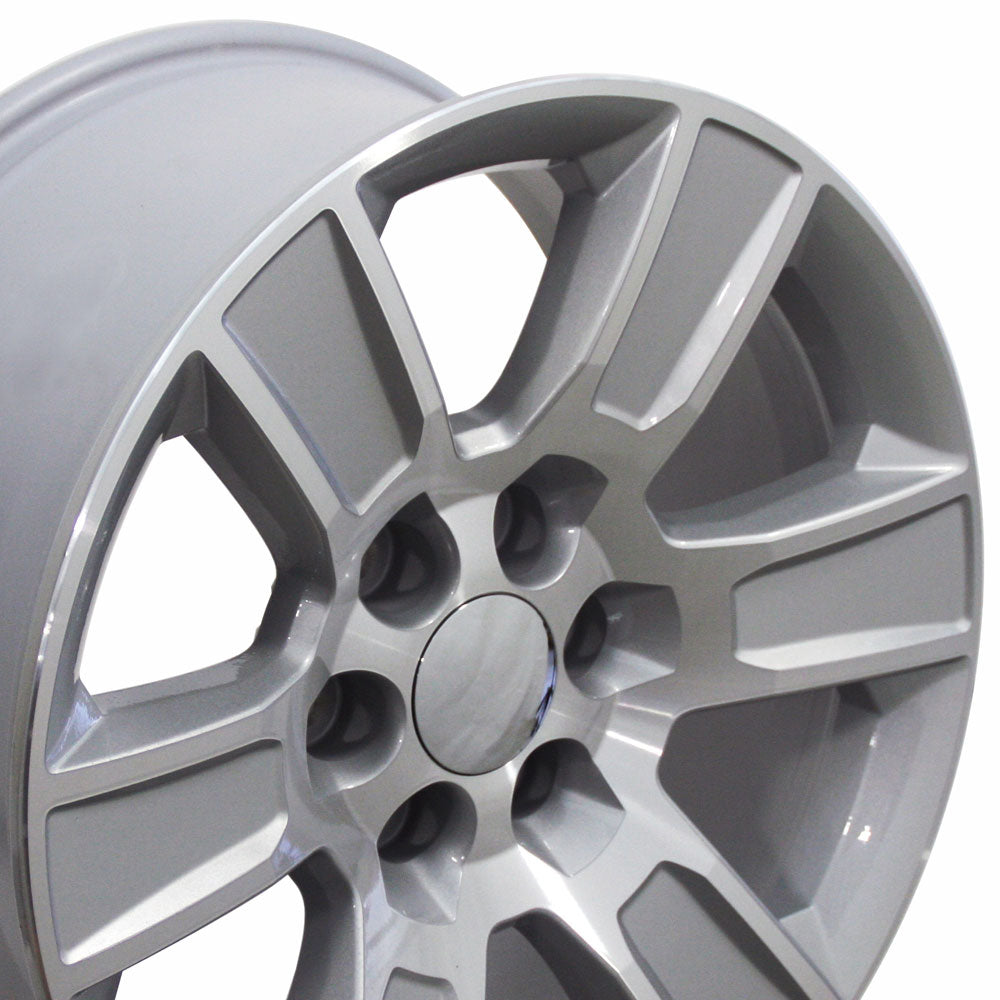 "20"" Fits Chevrolet - Sierra Style Replica Wheel - Silver Machined Face 2x9 
