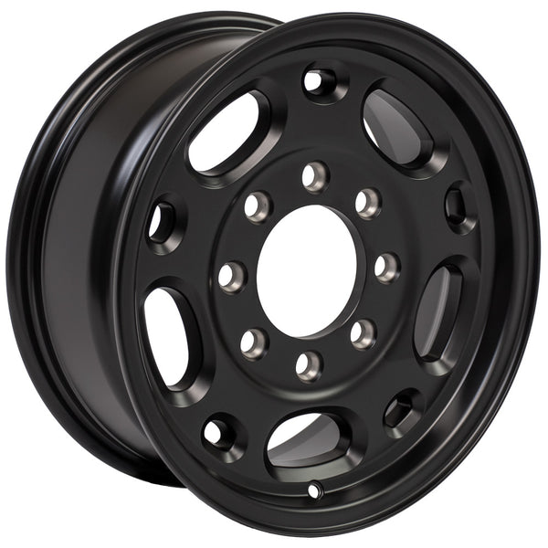 16 inch Rim Fits Chevy Suburban CV82 16x6.5 Satin Black Chevy Truck Wheel