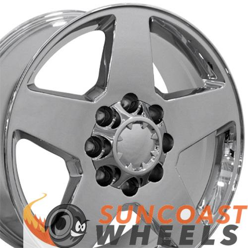 20 inch Rim Fits Silverado CV91A 20x8.5 Chrome Chevy Truck Wheel