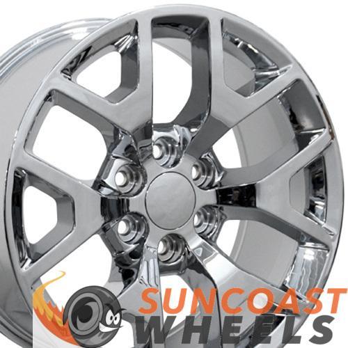 22 inch Rim Fits Sierra Honeycomb CV92 22x9 Chrome GMC Wheel