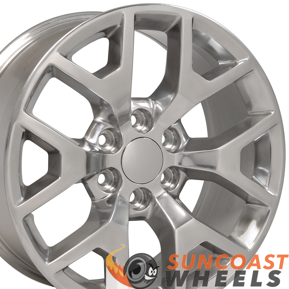 22 inch Rim Fits Sierra Honeycomb CV92 22x9 Polished Aluminum GMC Wheel
