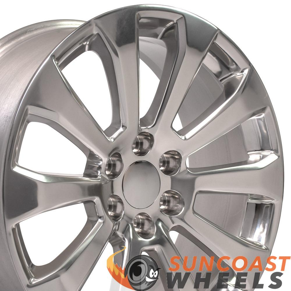 Polished Wheels fit Chevrolet Silverado 1500 High Country 22x9