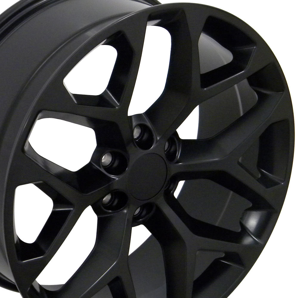 "20"" Fits GMC - Sierra Style Snowflake Replica Wheel - Satin Black 20x9 