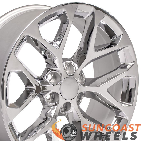 20-inch Rim Fits Silverado Snowflake Wheel CV98 20x9 Chrome Chevy Truck Wheel