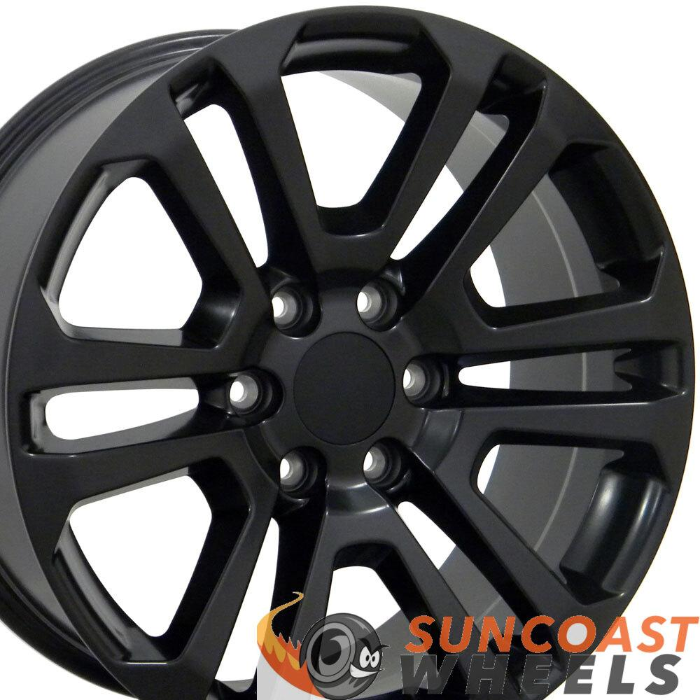 20 inch Rim Fits Sierra CV99 20x9 Satin Black GMC Wheel