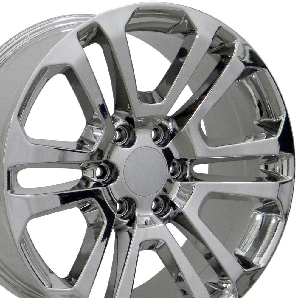 22 inch Rim Fits Sierra CV99 22x9 Chrome GMC Wheel