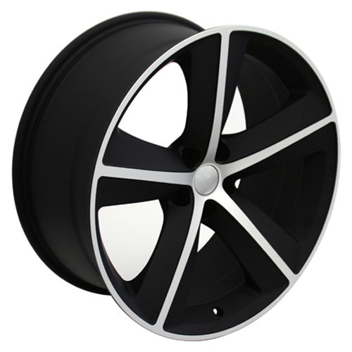 "20"" Fits Dodge - Challenger SRT Wheel - Mach'd Satin Black 2x9 