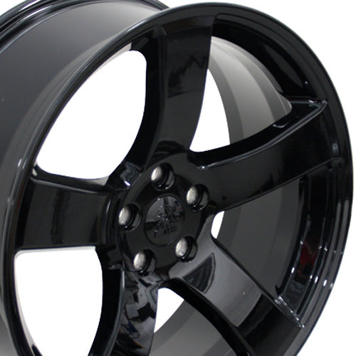"20"" Fits Dodge - Charger Style Replica Wheel - Black 20x8 