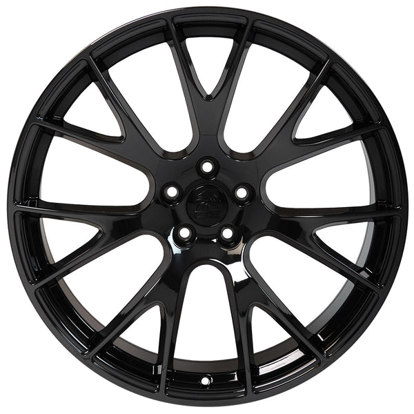"22"" fits Dodge Ram - Hellcat Style Replica Wheel - PVD Black Chrome 22x1 