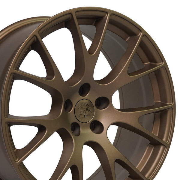 Fits Dodge Charger Hellcat Rim - DG15 20x9 Bronze - Dodge Charger Wheel
