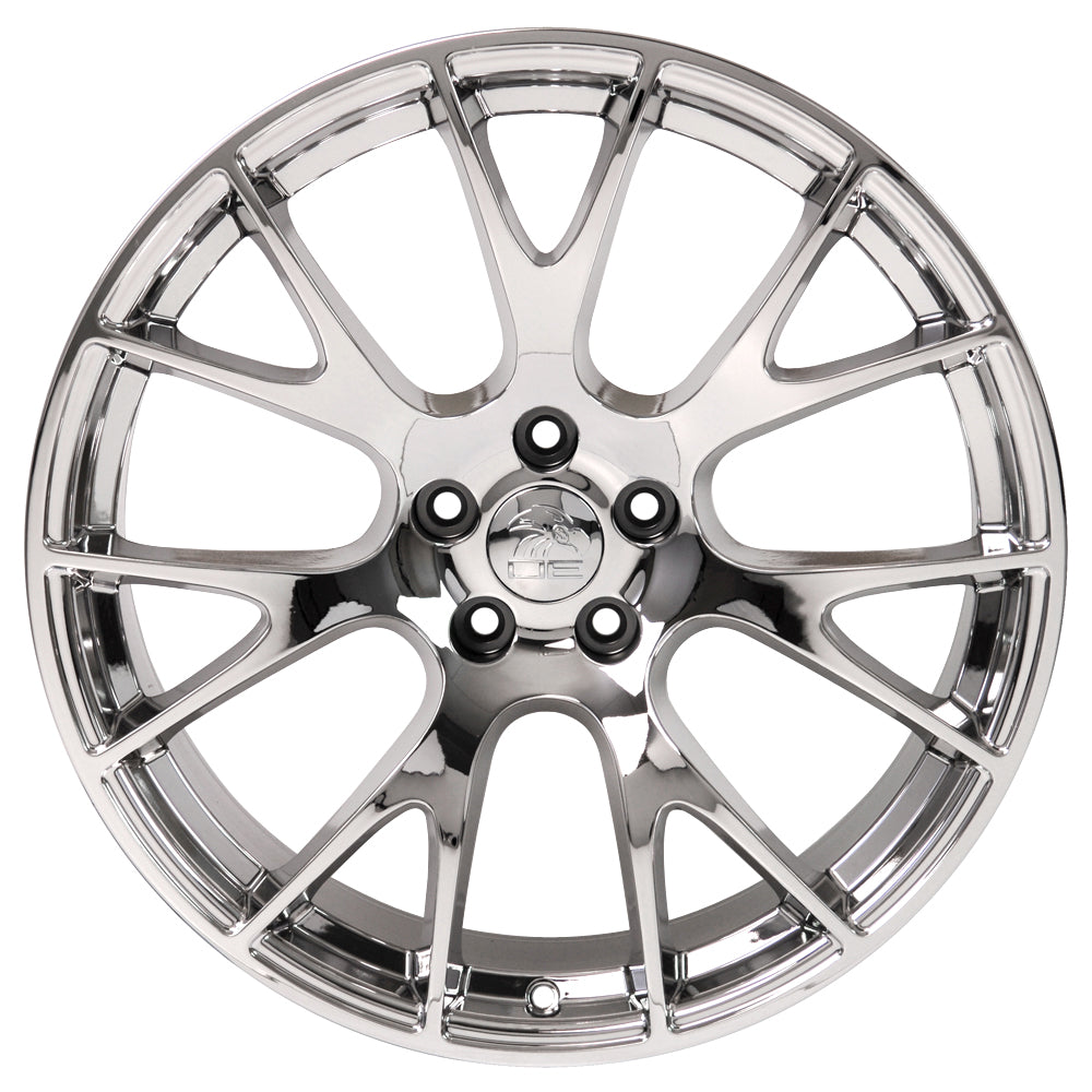 "20"" Fits Dodge - Hellcat Style Replica Wheel - Chrome 2x9 