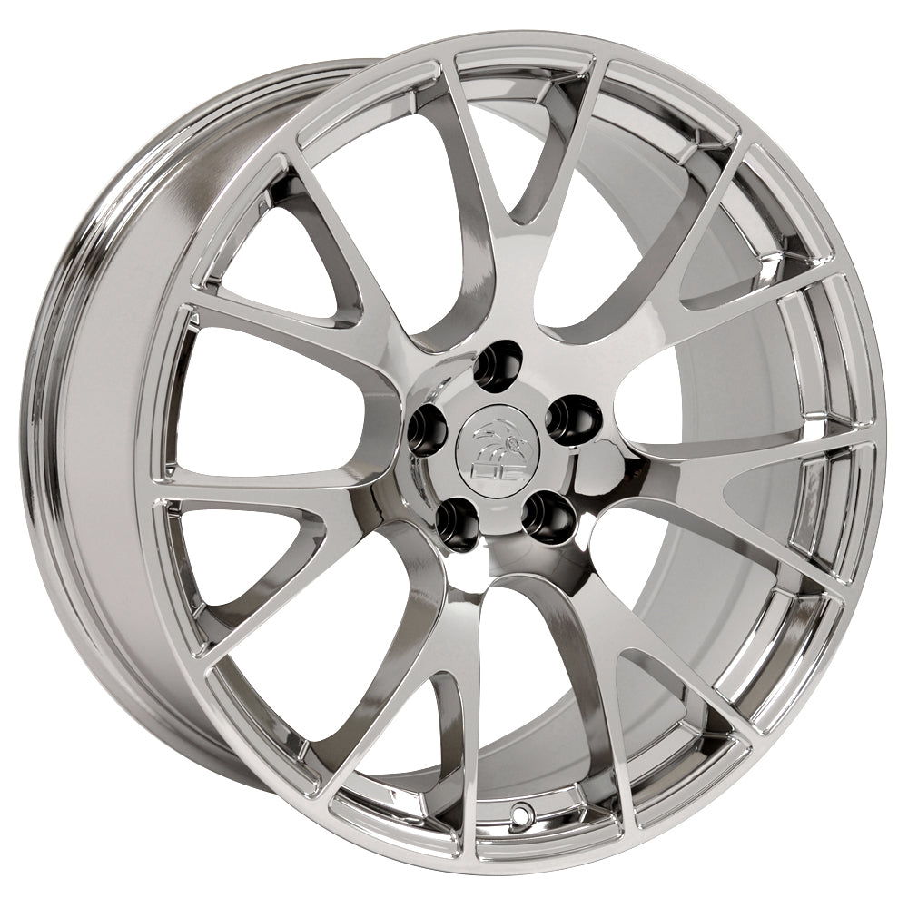 "20"" Fits Dodge - Hellcat Style Replica Wheel - Chrome 20x9"