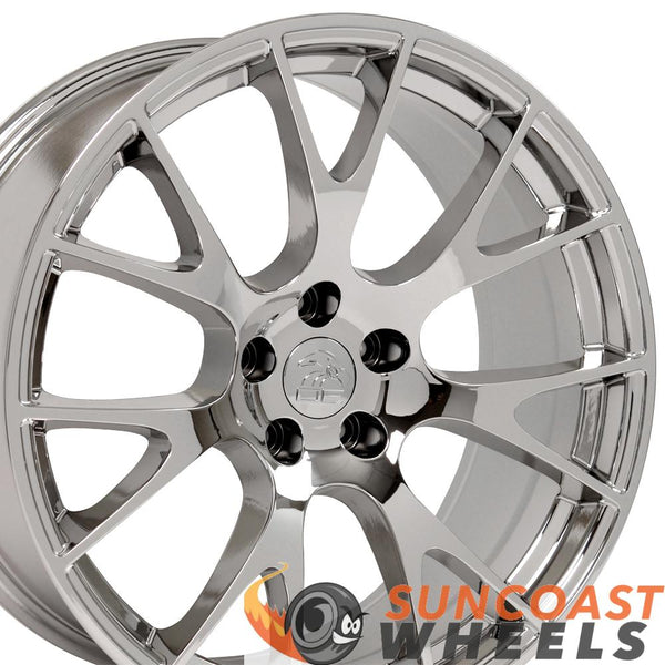 22 inch Rim Fits RAM 1500 Hellcat Wheel DG69 22x10 Chrome