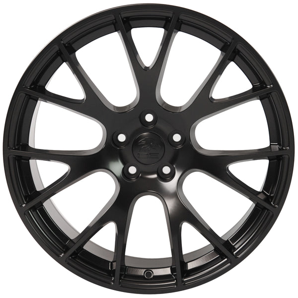"22"" fits Dodge - Hellcat Style Replica Wheel - Satin Black 22x9 