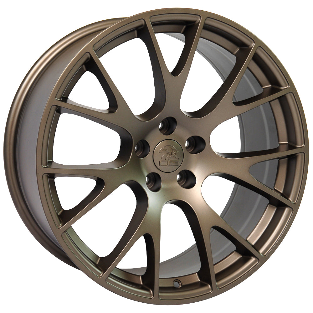 "22"" fits Dodge - Hellcat Style Replica Wheel - Bronze 22x9 