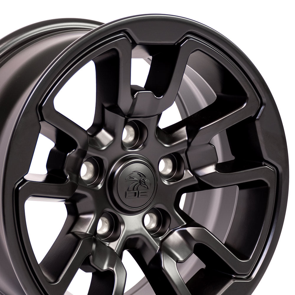 "17"" Rim fits Dodge RAM Rebel Style Satin Blk 17x8 Wheel Hollander 2553"