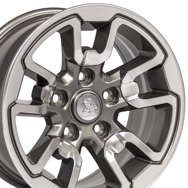 "17"" Rim fits Dodge RAM Rebel Style Polished w/Anthracite 17x8"